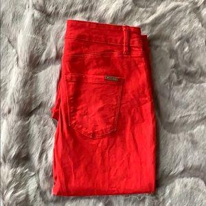 White House Black Market red skinny jeans size 0